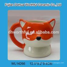 2016 hotsell alto copo de cerâmica com forma de raposa