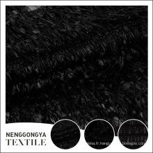 Tissu brodé noir spécial adapté aux besoins du client de luxe doux doux