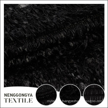 Customized soft luxury deaign special black allover embroidered fabric