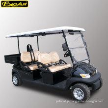 Carro de golfe elétrico a pilhas de 48V 4 assentos com caixa da carga