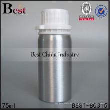Мини алюминиевый 75ml бутылка с пластиковой крышкой, высококачественные косметические алюминиевые бутылки