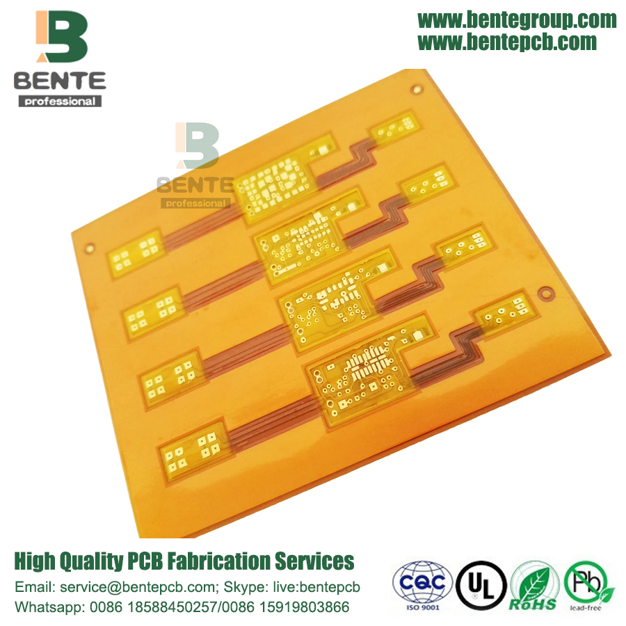 Flex board 2layers ENIG Yellow Soldermask BentePCB