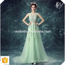 Alibaba Light Green Evening Dress Girls Party Natal Evening Vestido formal Prom Dress