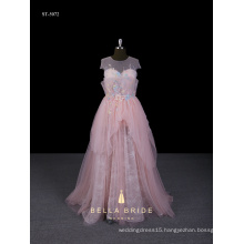 China vestidos de quinceanera dress lace appliqued prom dress pink evening gown girls party dresses for girls of 18 years old