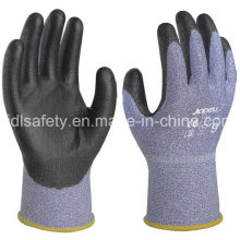 18 калибровочных порезов безопасности перчатка с PU затер (K8091-18)