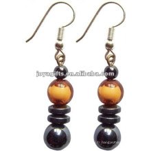 Fashion Hematite Plastic Beads Earring