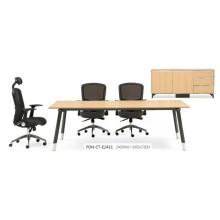 Table de conférence rectangulaire en bois Nouveau design avec pieds en métal (FOH-CT-E2411)