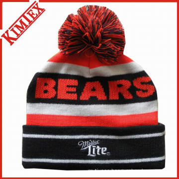 Custom OEM Knitted Jacquard Acrylic Winter Beanie Hat