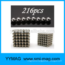 5mm 216pcs silver color magnetic sphere