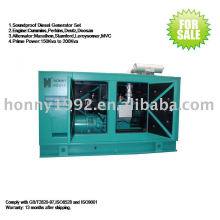 50Hz Soundproof Low Noise Diesel Generator 140kW 175kVA