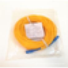 Длина Индивидуальный SC / UPC одномодовый симплексный желтый волоконно-оптический патч-корд
