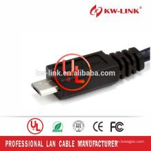 Hochwertiges 1.5M Mikro-USB-Kabel USB2.0 A zum Mikro-B-Daten-Synchronisierungs-Gebühren-Kabel für intelligentes Telefon