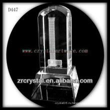 К9 3D лазерное фото внутри кристалла круглой верхней части