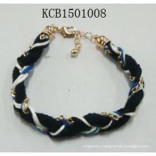 Fabric Bracelet with Metal Fashion Jewellery