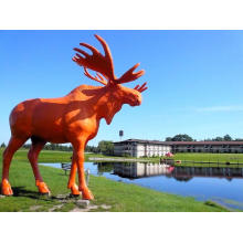 Outdoor Decorative Fiberglass Moose Sculpture