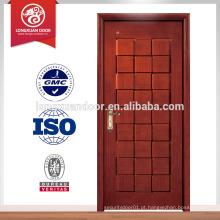Custom Wooden Building Doors, Single Swing à prova de fogo Porta Interior