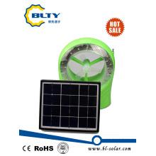 Ventilador de mesa solar recargable DC
