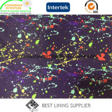 100% Polyester Colourful Print Lining for Cloth