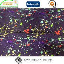 100% полиэстер красочные печатные Подкладка для ткани