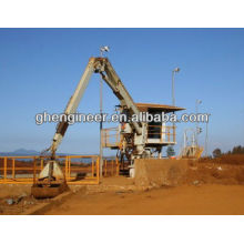 300KNM articulated boom marine crane with grab