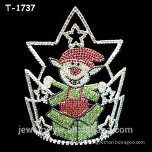 Fashion colored crystal elf surprised christmas pageant crowns