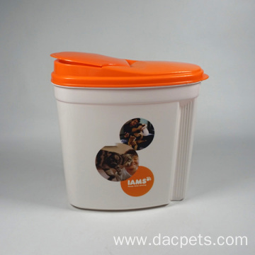 Easy Open Cover Plastic Cat food container