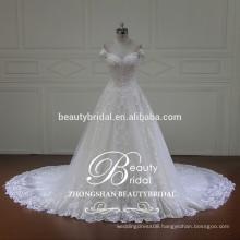 off shoulder embellishments puffy princess ball gown bridal wedding dress