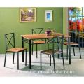 Table Top MDF 1 + 4 Table à manger Chaise Tube en acier pour maison