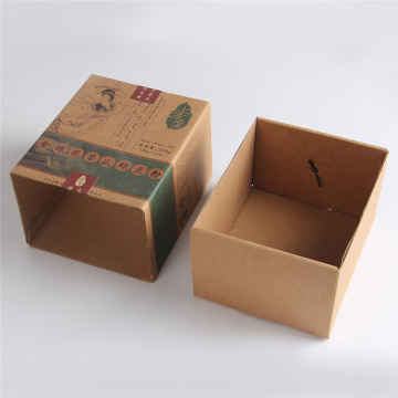Custom Pencetakan Pembungkusan Teh Slide Kraft Drawer Box