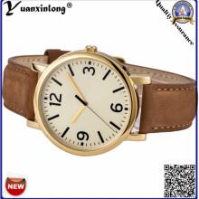 YXL-120 новый дизайн золотой пластине часы Mens роскошь бизнес Men′s наручные часы кожаный Кварцевые подарок часы оптом
