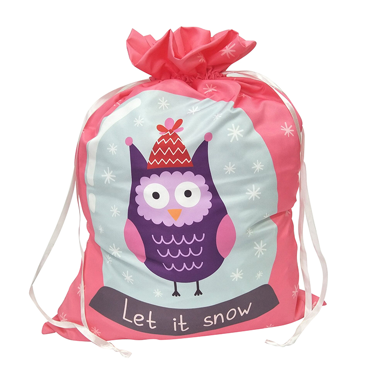 Christmas Owl Pattern Sack