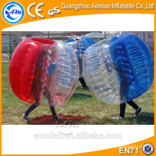 Custom made body inflation ball suit inflatable bumper ball tpu