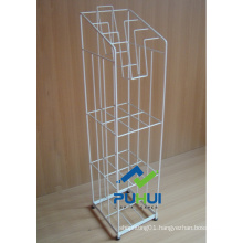 Floor Standing Metal Wire Newspaper Stand (PHC308)
