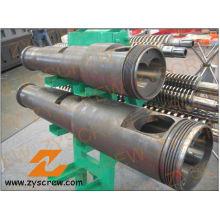 Extrusor cónico del tubo del PVC del barril de tornillo doble del barril de Cm55 Kmic
