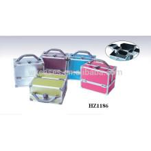 venda quente caso cosmético de alumínio com opções de cores diferentes