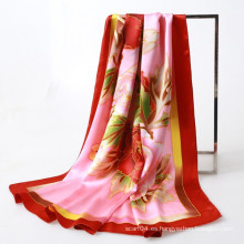 Bufanda oriental del cuadrado del peony de la pintura de la mano del estilo directa comprar China