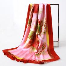 Восточный стиль ручной работы пиона квадратный шарф прямой купить Китай
