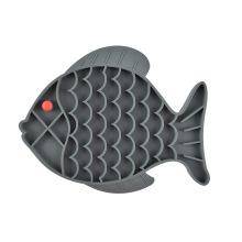 Cuenco de silicona para mascotas con peces y flores cuenco lento