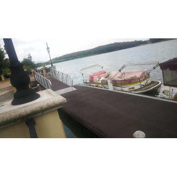 2019 Hot sale PE pontoon floats aluminum marina dock boat floating dock