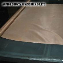Rede de arame de cobre tecida 100 mícrons para proteger o fabricante
