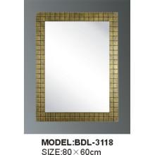 Espejo de baño de vidrio de plata de 5 mm de espesor (BDL-3118)