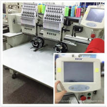 """Two Head Computer Cap Embroidery Machine with 8"""" Touch Screen"""