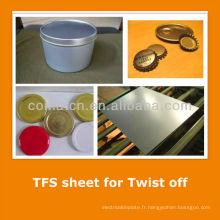 JIS3315 standard Tin gratuit tôle d'acier pour les boîtes de tirage encre
