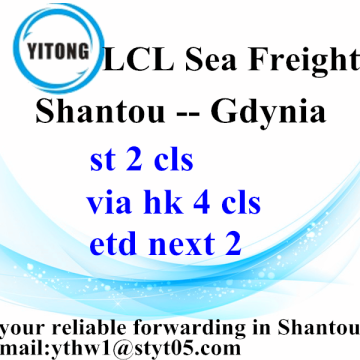 Global International Ocean Freight da Shanou a Gdynia