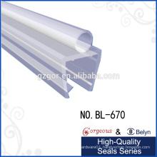 pvc seal strip glass hardware accessory of bottom glass