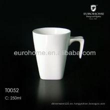 Taza de la porcelana con la cuchara, taza de tazas Taza de la cuchara y de cerámica Spooner