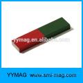 Rojo / verde enseñanza Alnico imán barra tiene SN