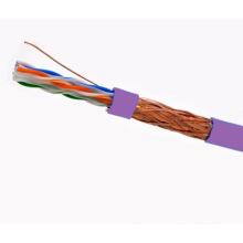 Cabo SFTP CAT6 LSZH Fluke testado Soild Bare Copper Purple