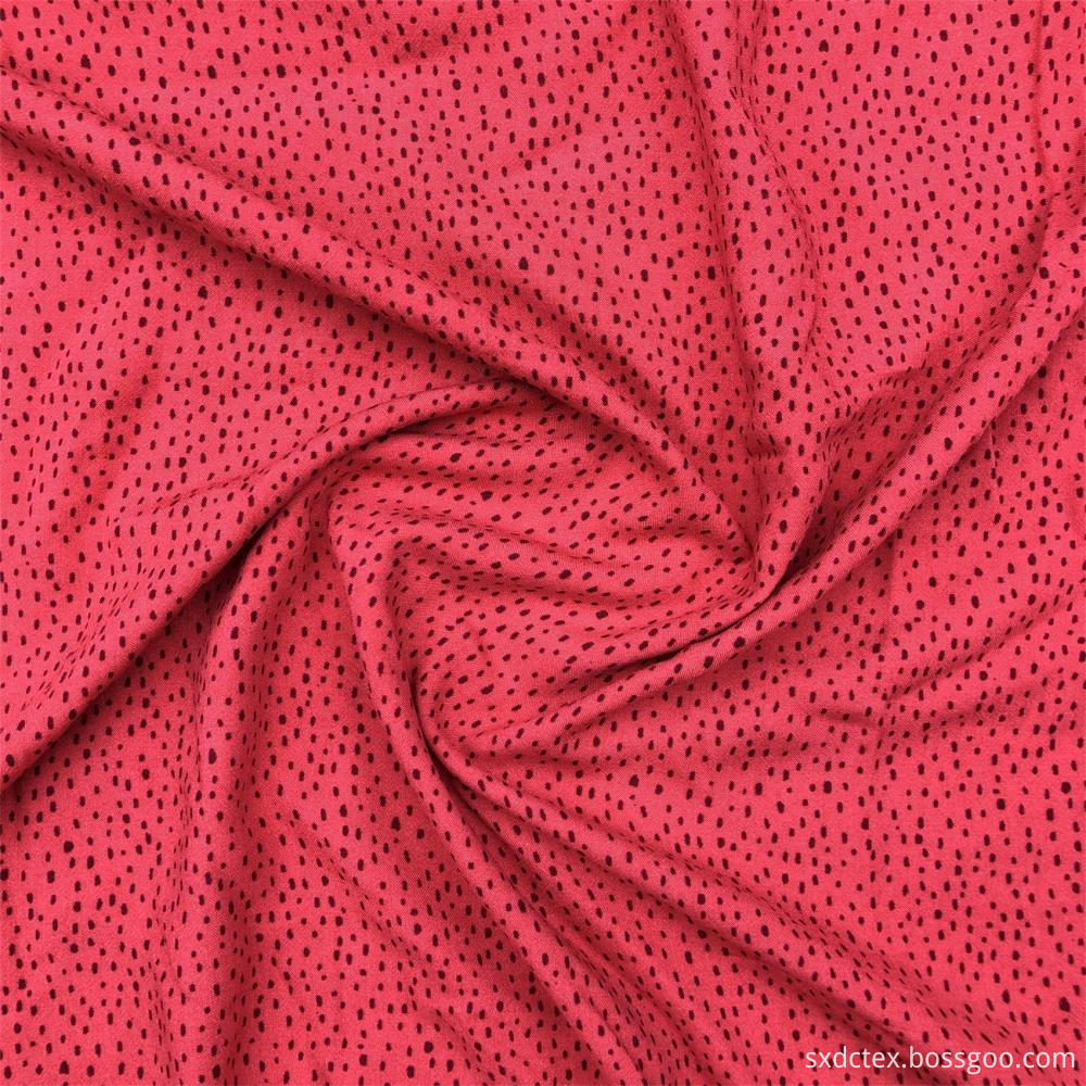 Warm Red Flowers Printed Fabric