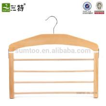 Wholesale A Grade Beech Wooden Scarf Hanger, Wood Hanger for Scarf